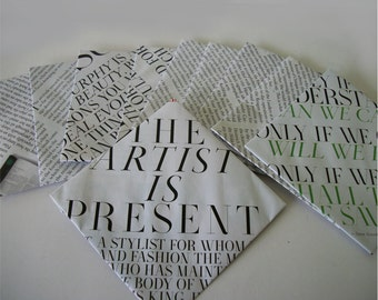 Text Envelopes 4 X 4 Handmade Recycled Envelopes Made From Magazines