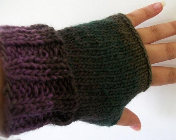 Knitting Pattern: One Skein Easy Ribbed Fingerless Gloves Pattern 2 Versions ...