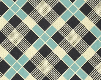 Fabric by the Yard--Strong Plaid in Sea-- Denyse Schmidt for Westminster