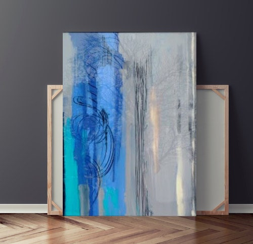 Reverse Glass Painting Original Abstract By