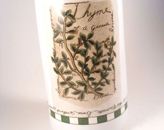 Savory Time Olive Oil Bottle White Green Thyme Spout Kitchen Stove