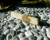 TIE CLIP - Wooden Tree Branch LINDEN Wood Handmade Tie Clip