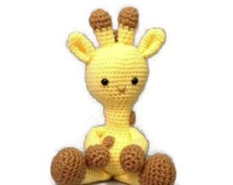 Crocheted Giraffe - Made to Order - Stuffed Animal - Amigurumi - Nursery Decor