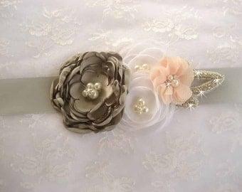Bridal Sash Wedding Sash Silver Wedding Belt Gray Sash Bridesmaid Satin Sash Flower Girl Bridesmaids Wedding Sash Bridal Sash