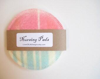 Cloth Nursing Pads--Modern Color Pull Print--Single Pair--Ready to Ship