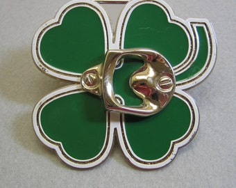 Shamrock Bottle Opener Belt Buckle
