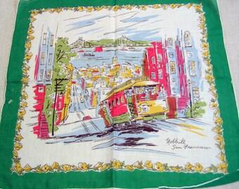 Vintage Nob Hill, San Francisco Handkerchief