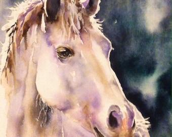 Horse Western art  painting - original Watercolor painting equestrian art , western art, original watercolor on paper
