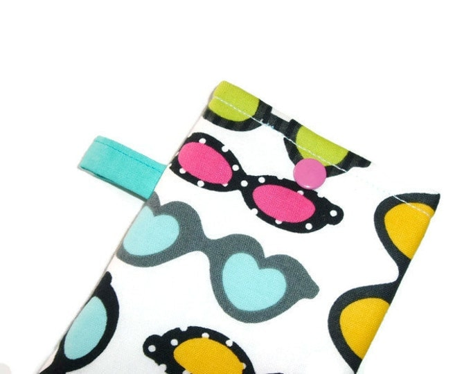 Eyeglass Case - Stocking Stuffer -Sunglasses Case - Bright and Funky Glasses - Gift Under 10