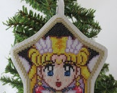 Eternal Sailor Moon Cross Stitched Embroidered Ornament