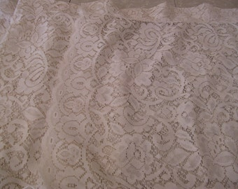 Four Lace Curtain Panels -22x38 inches.- Ecru color