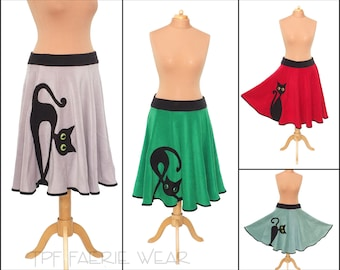 Cat Fleece Midi length Skirt