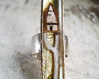 Tiny Terrarium Ring Number 28