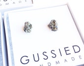 Authentic Sparkly Pyrite Druzy Earrings