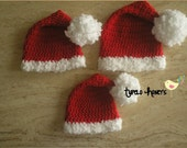 SALE : Crocheted Santa Hats -Different Sizes