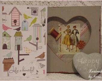 Handmade 'Life Is Beautiful' Birthday Card