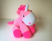 Cuddly Perfectly Pink Unicorn (Finished Doll)