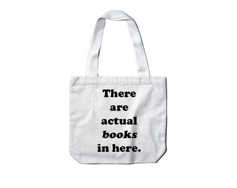 Actual Books Canvas Tote Bag - by So Effing Cute