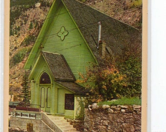 "Colorado, Vintage Postcard, ""Grace Episcopal Church, Georgetown, Colorado,""  est. 1930s, #819."
