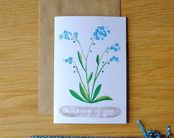 Thinking Of You, Forget Me Not Card