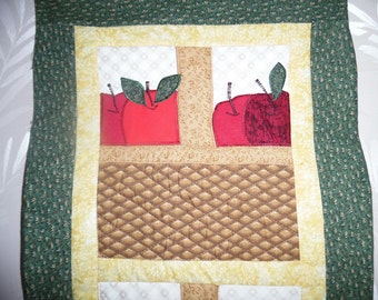 Apple Basket Quilted Wall Hanging