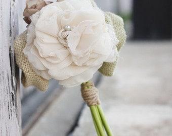 Mini Silk Flower Bouquet | Alternative Bouquet | Rustic Wedding | Bridesmaid Bouquet | Keepsake Bouquet | Wedding Toss Bouquet | Flower Girl
