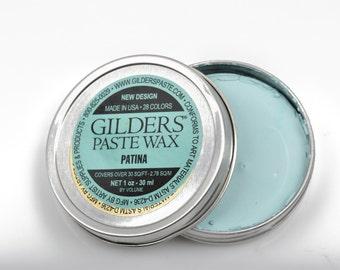 Light BLUE VERDIGRIS PATINA Gilders Paste, Wax Patina Paint,  Wax Gilders Paste, 1 oz, 30ml, pnt0025
