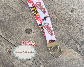 Maryland Flag Baltimore  Orioles Key Fob