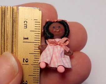 OOAK black Pepona in pink