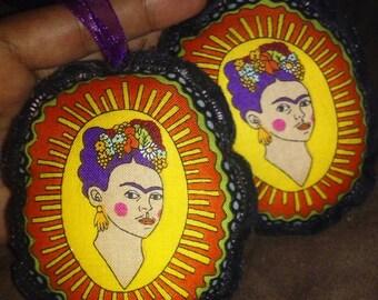 Clearance SALE Frida Kahlo ornament/pin cushion/Mexican folk art