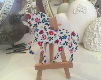 Handmade decoupage unicorn in Cath Kidston