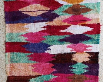 "220X120  cm ( 7.2"" x 3.9"") FREE SHIPPING worldwide KC27739 vintage berber kilim rug, flat rug, moroccan rugs , rag rug,morocco carpets"