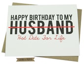Husband Birthday Card, Loving, Funny, For Him, Hot, Sexy, Husband, Date Night, Spouse, Significant Other, Humorous - Hot Date for Life