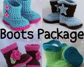 Crochet Patterns Baby Boots