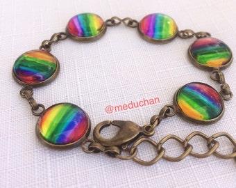 Glass Rainbow bracelet