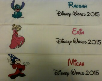 Disney Autograph Pillowcase with Ship, Disney World or Disneyland