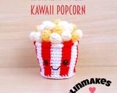 Kawaii Popcorn Cup  : Amigurumi Pattern in PDF format