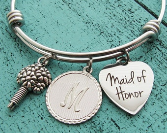 maid of honor proposal gift, maid of honor gift, moh bracelet jewelry, personalized wedding gift, maid of honor jewelry, bridal party gift