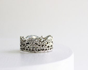Silver Lace Ring -Style 17