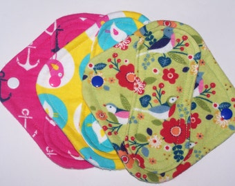Set of 3 Petite  panty liners with wings 6.5 inches