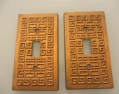 Vintage Gold Hollywood Regency Light Switch Plates