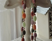 Vintage Boho necklace, long with beads