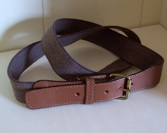 Leather and Elastic Gore Belt