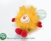 Rainbow Brite Yellow Sprite Plush Spark 7 inch