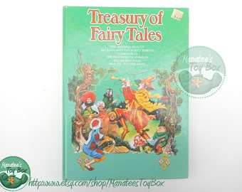 Vintage Treasury of Fairy Tales Book Beautifully Illustrated 1954 Printed in Belgium
