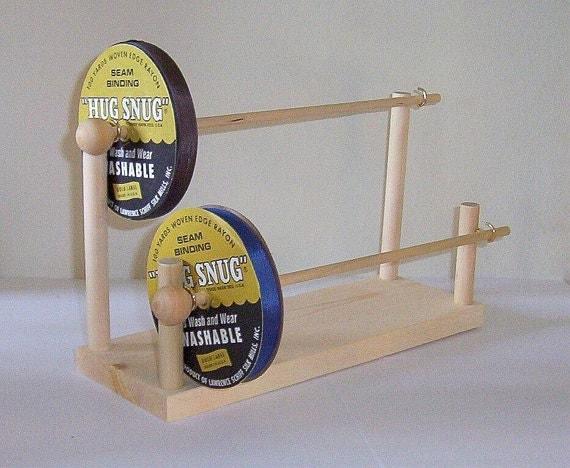 Seam Binding Ribbon Holder Spool Storage Rack Holds Hug Snug