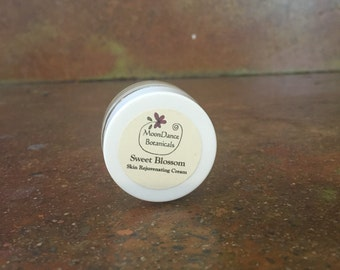 Sweet Blossom Skin Rejuvenating Cream by MoonDance Botanicals; 1/4 oz; All Natural, Herbal Facial Moisturizer