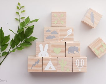 Tribal Blocks set of 12