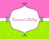 Reserved Listing for Rebecca - Name and Age Add On