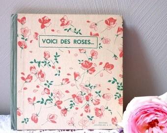 1953 Child poetry Vintage french book french poem -  Rosebud